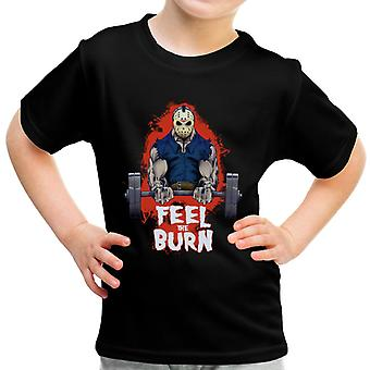 Friday The 13th Jason Voorhees Pumping Iron Gym Kid's T-Shirt