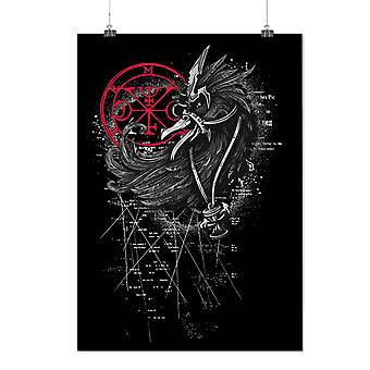 Matte or Glossy Poster with Devil Beast Bird Horror | Wellcoda | *d1251