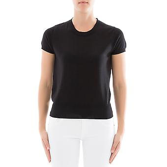 Snobby sheep women's 12290999 black silk T-Shirt