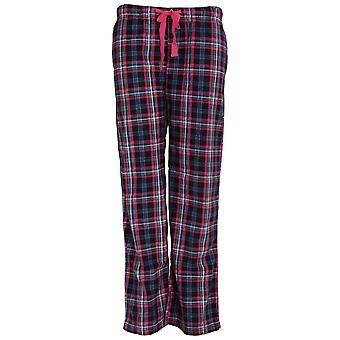 Forever Dreaming Womens/Ladies Tartan Checked Pyjama Bottoms/Lounge Pants