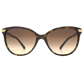 Burberry Cateye Sunglasses In Dark Havana