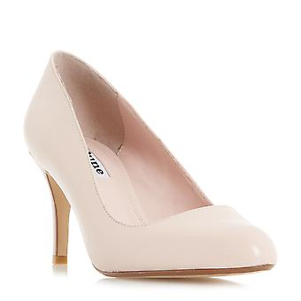 Dune Mesdames ACRE amande Toe milieu talon chaussure Blush