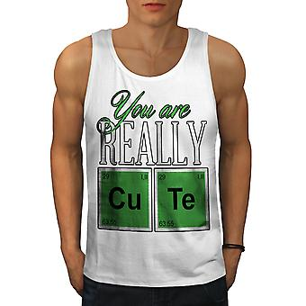 Cute Chemistry Geek Men WhiteTank Top | Wellcoda