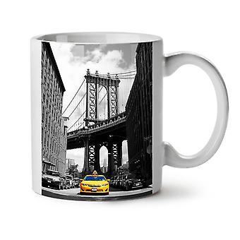 Brooklyn Bridge NEW White Tea Coffee Ceramic Mug 11 oz | Wellcoda
