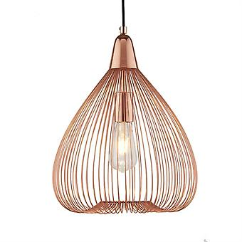 Pumpkin Copper Cage Pendant - Searchlight 3591cu