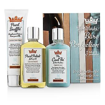 Anthony Shaveworks nackte Perfektion Kit: Rasieren Creme 150g + gezielte Gel Lotion 156ml + Body Oil 156ml 3st