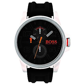 Hugo Boss Orange Detroit Black Silicone Strap Black Dial Men's Watch