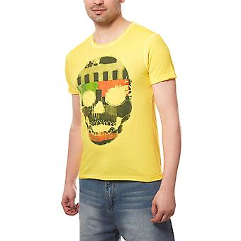 RUSTY NEAL skull men's T-Shirt yellow with picture