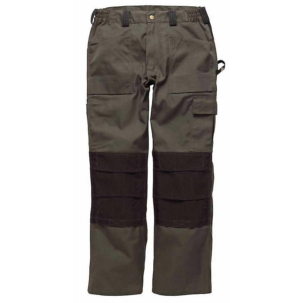 DICKIES Mens GDT290 vêtements de travail pantalons vert Olive WD4930O