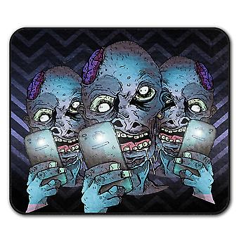 Selfie мозга ползучести зомби не нескользкие мыши коврик коврик 24 см х 20 см   Wellcoda