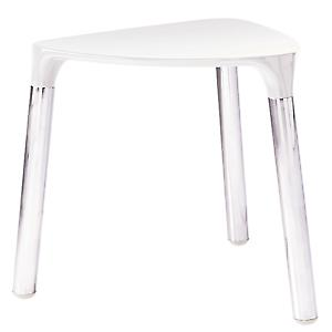 Complements Yannis Stool White/Chrome 2172-02