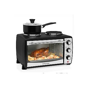 Andrew James 24 Litre Mini Oven And Grill With Double Hob