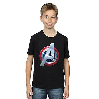 Marvel Boys Avengers 3D Logo T-Shirt