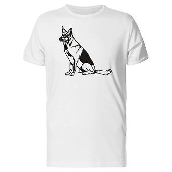 Black And White German Shepherd Tee Men's -Image by Shutterstock
