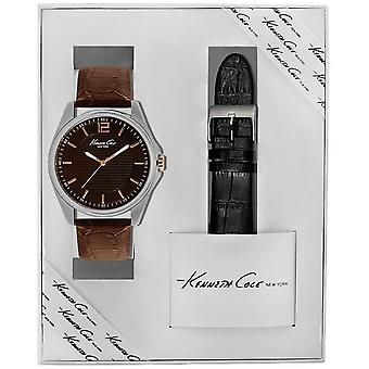 Kenneth Cole New York men's wrist watch analog quartz leather KC5163