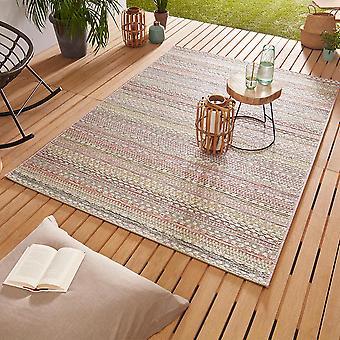 Design Outdoorteppich Web tæppe flad væve | Pine pink guld