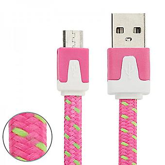 3m USB data and charging cable Pink for all Smartphone and Tablet micro USB