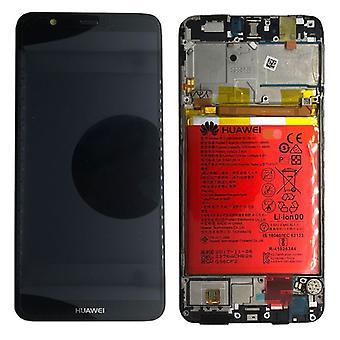 Huawei visar LCD enhet + Service Pack 02351SVJ svart ram för P smart