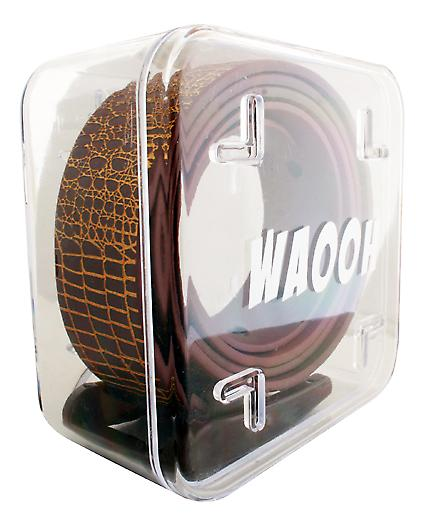 Waooh - belt plastic Waooh brown/gold