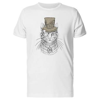 Steampunk Cat Drawing Tee Men's -Image by Shutterstock