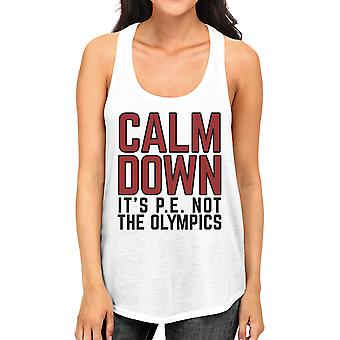 It's Pe Not The Olympics Womens Funny Workout Tank Top Cool Cotton
