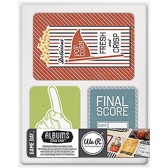 Game Day Albums Made Easy Journaling Cards 100/Pkg