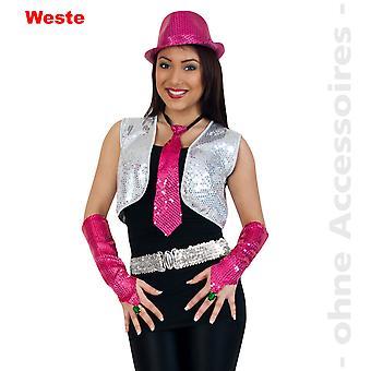 Sequin vest women's disco costume Pailettenbolero vest Womens costume