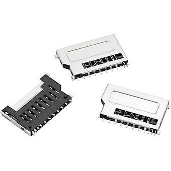 WR CRD Micro SD card gniazdo, Push Push idealna, 8-pin Ilość pinów: 8 Würth Elektronik zawartość: 1 szt.