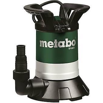 Metabo 0250660000 limpo água submersível bomba 6600 l/h 6 m