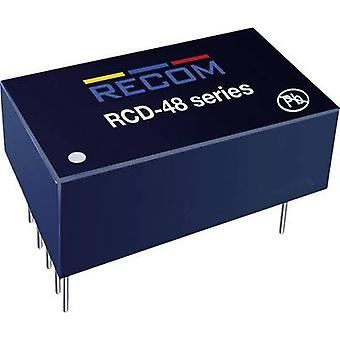 LED controller 1000 mA 56 Vdc Analog dimming, PWM dimming Recom Lighting RCD-48-1.00/W Max. operating voltage: 60 Vdc