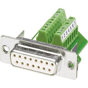 Phoenix Contact VS-15-BU-DSUB/16-MPT-0,5 D-SUB socket 180 ° Number of pins: 15 Screws 1 pc(s)