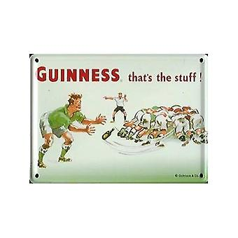 Guinness Rugby Metal Postcard/ Mini Sign