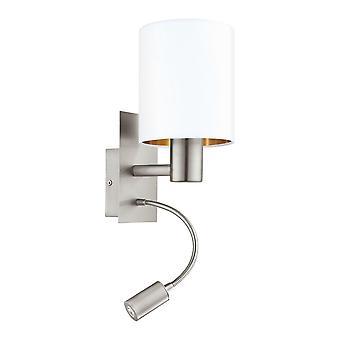 Eglo Pasteri bed LED Wall leeslamp met wit en koper schaduw