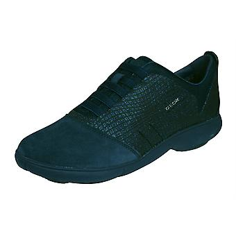 Geox D Nebula A Womens Slip On Trainers / Shoes - Navy