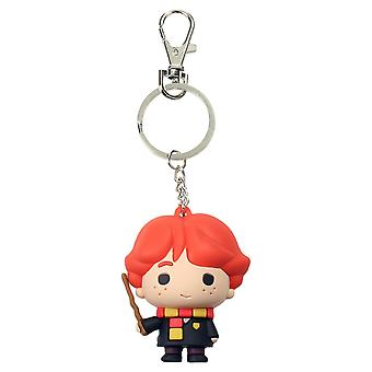 Harry Potter Ron Weasley Keychain printed plastic, including mini carabiner.