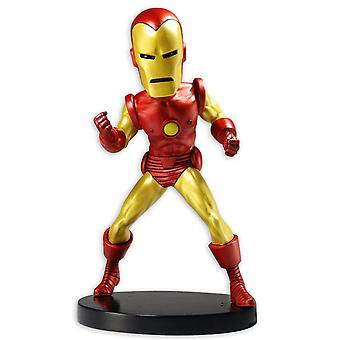 Marvel Classic Headknocker Iron Man XL Wackelfigur aus Kunstharz, Hersteller: NECA.