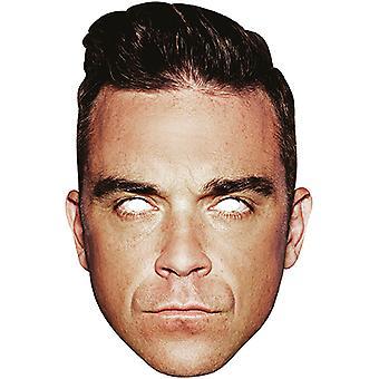 Robbie Williams tarjeta superestrella cartulina máscara de carnaval