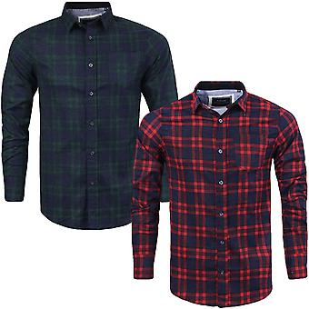 Brave Soul Mens Slater Long Sleeve Brushed Cotton Check Checked Lumberjack Shirt