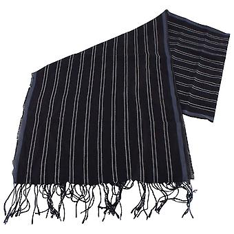 Bassin and Brown Maradona Striped Scarf  - Navy/Blue