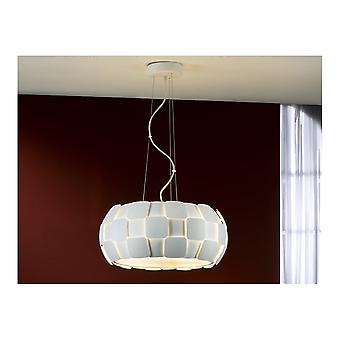 Schuller Modern Matt White Open Oval Ceiling Pendant 5 Light