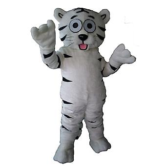 mascot Tiger white and black, cute, sweet and endearing SPOTSOUND