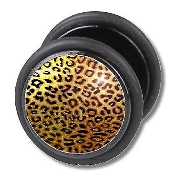 Fałszywe oszust Plug, kolczyk, ciało Biżuteria, Leopard