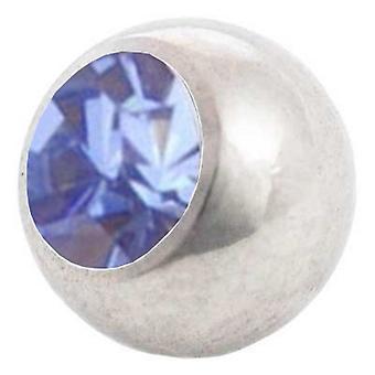 Piercing boule de rechange, bleu clair | 1, 6 x 4, 5 et 6 mm, bijoux de corps