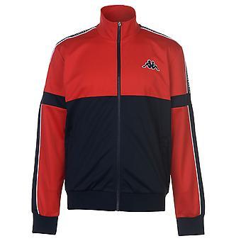 Kappa Mens Panel jas trainingspak Top Coat lange mouw Zip volledige blok kleur