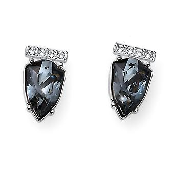 Oliver Weber Earring Trilliant Simple Rhodium, Silver Night