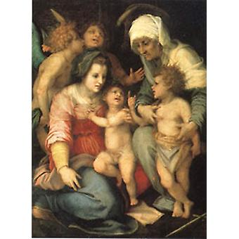 The Holy Family with Angels, Andrea del Sarto, 50x40 cm