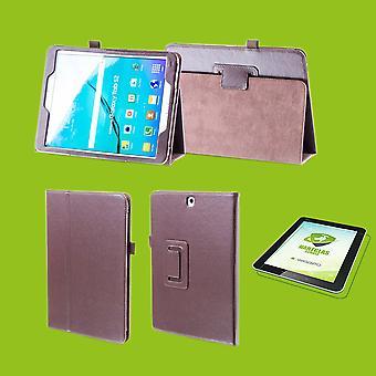 Für Apple iPad Pro 11.0 Zoll 2018 Hülle Cover Tasche Braun Kunst Leder Case Neu + 0,4 mm Hart Glas