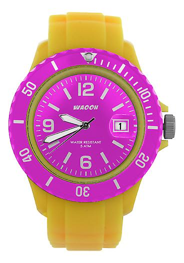 Waooh - toont MONACO38 gele dial & omlijsting kleur