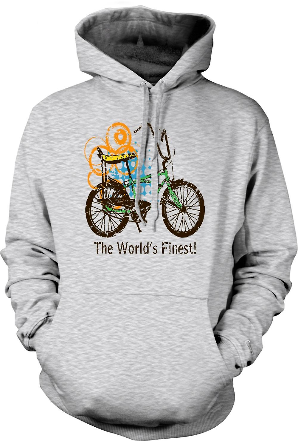 Mens Hoodie - Chopper Bike - il più belle del mondo - Funny Graphic Design