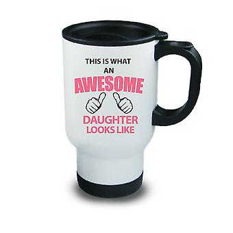 This Is What An Awesome Son Looks Like Metal Travel Mug